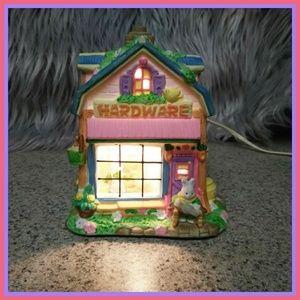 Other - Adorable ceramic light up easter hardware house